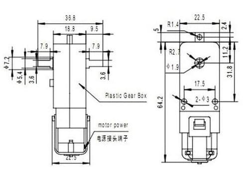 DC 3-6V TT Gear Motor