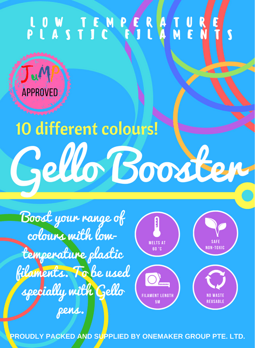 Gello Booster pack (Bundle of 10 PCL filaments)