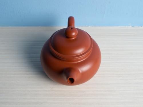 Handmade Zhu Ni (Vermilion Clay) Teapot by Wu Chen-ta (#RCT0001)