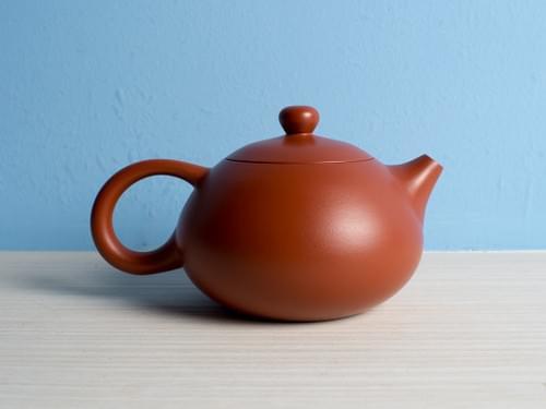 Handmade Zhu Ni (Vermilion Clay) Teapot by Wu Chen-ta (#RCT0002)