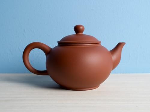 Handmade Zhu Ni (Vermilion Clay) Teapot by Wu Chen-ta (#RCT0004)