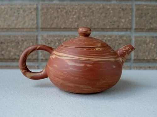 Handmade Twisted Clay Teapot by Wu Chen-ta (#MCT0003)