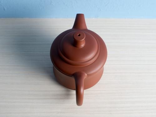 Handmade Zhu Ni (Vermilion Clay) Teapot by Wu Chen-ta (#RCT0009)