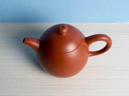Handmade Zhu Ni (Vermilion Clay) Teapot by Wu Chen-ta (#RCT0006)