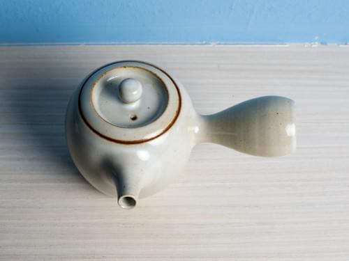 Handmade Glazed Clay Teapot by Bai Sheng-yu (#CSY0002)