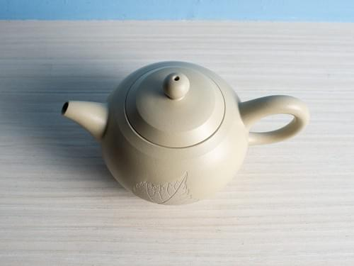 Handmade Light Beige Clay Teapot by Wu Chen-ta (#WCT0002)