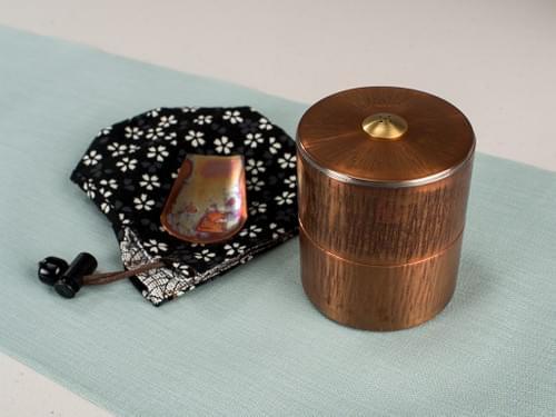 銅倉號手工紅銅茶罐(搥目)