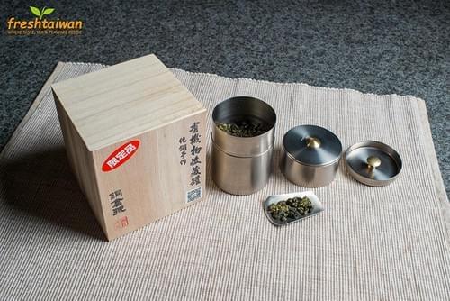 Handmade Breathable Pure Titanium Tea Caddy (Tea Canister, Chazutsu) - Plain Pattern