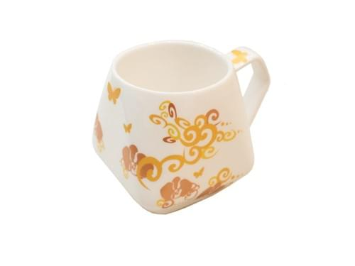 Sky-Lantern-Shaped Mug (Golden Dragon)