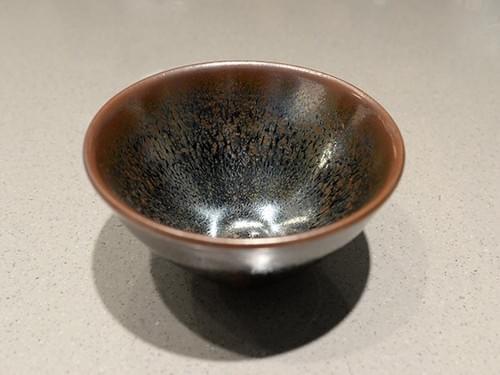 銀絲油滴天目茶碗