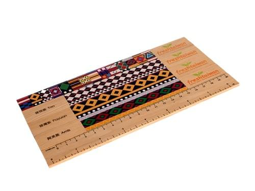 台湾先住民トーテム色の木製定規