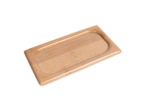 竹長方杯墊