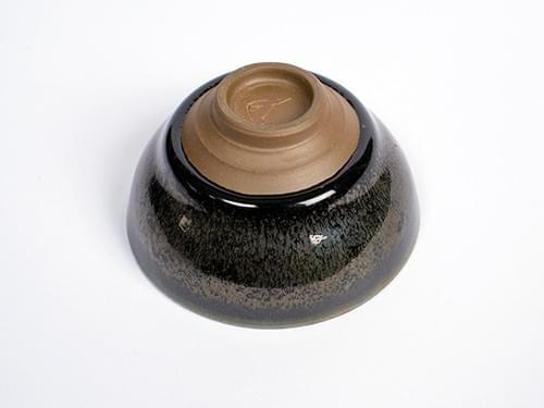 漿釉銀絲天目茶杯