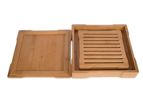 和風的な竹製茶盤