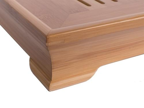 古典的な竹製茶盤