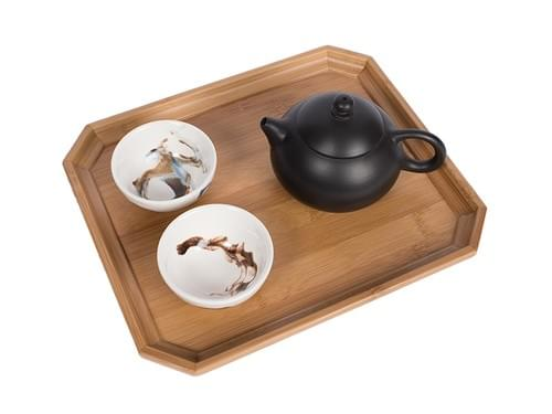 Octagon Shaped Tea Service Tray