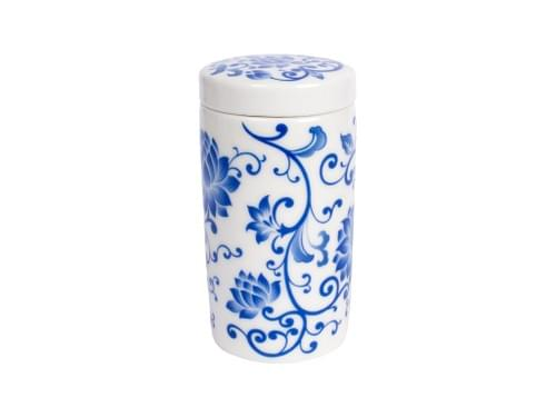 Blue-and-White Porcelain Tea Canister