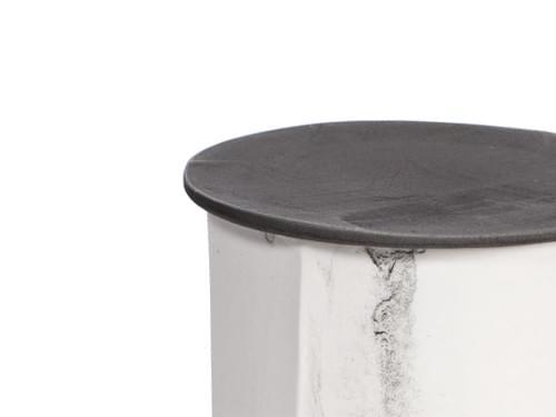 現代風茶缶(粉白+銀灰色蓋)