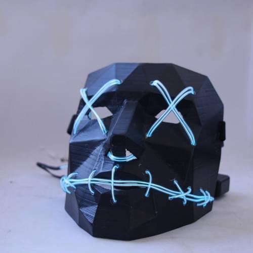 3D Printed Low Polygon Mask