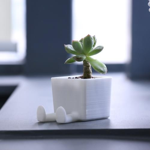 3D Printed Planter/Card-Phone Holder
