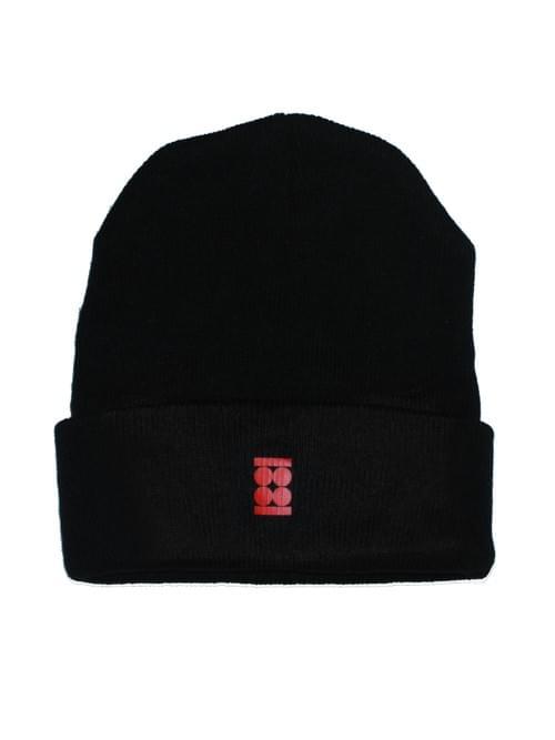 420 Stamped Black Beanie Hat