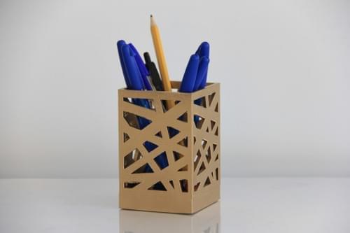 3D Printed Zigzag Pen Holder