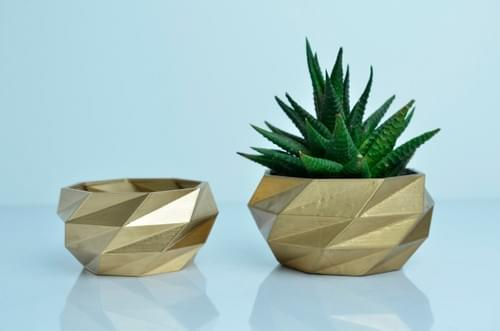 3D Printed Low Poligon Planter