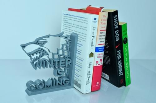 3D Printed GoT Winter is Coming Book End