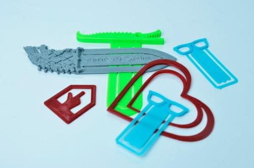 3D Printed Set of 5 Bookmarks
