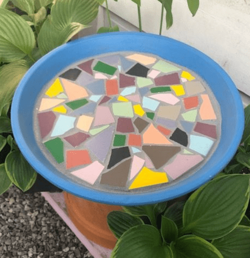 Craft a Mosaic Bird Bath with Katherine Justice May 29th