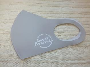 マスク アッシュブロンド(やや濃いめのグレー)(M)