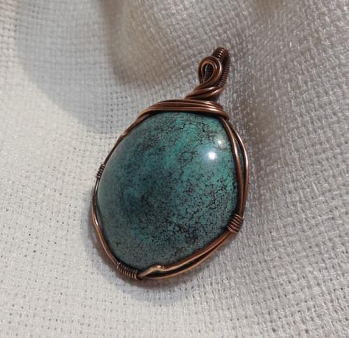 Ciondolo Amuleto in Turchese e Rame