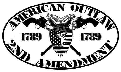 American Outlaw 2nd Amendment Decal