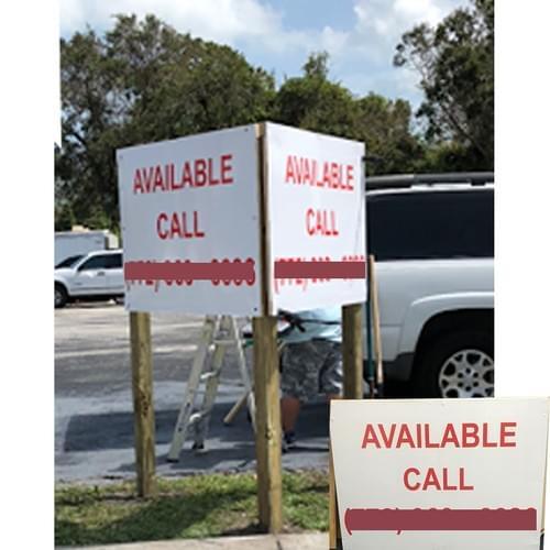Post / Panel Sign
