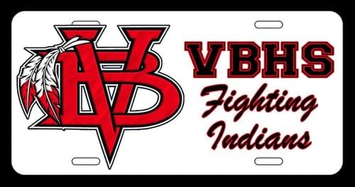 VBHS License Plate