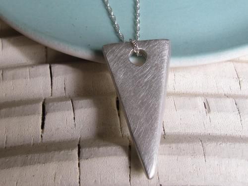 Infinity Slice Silver Pendant