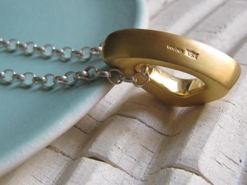 Gold Triangle Pendant
