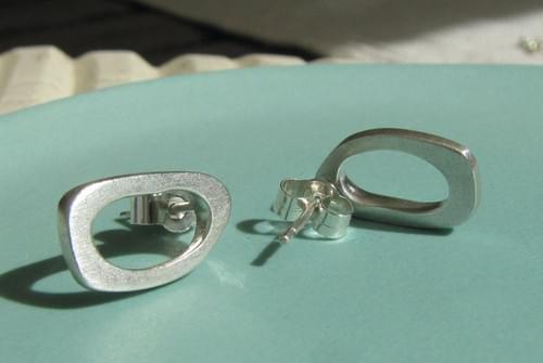 Infinity Oval Earrings