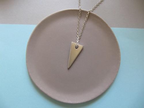 Infinity Slice Silver Triangle Pendant