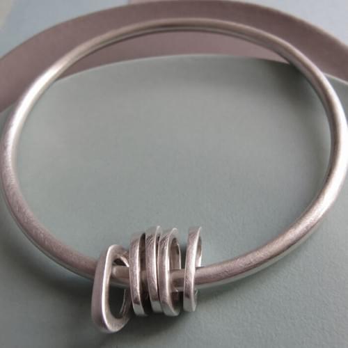 Infinity 5 Stacks silver bangle - SOLD