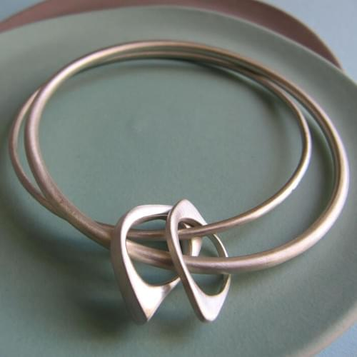 Two Quirky Ovals Double Bangle - Unite