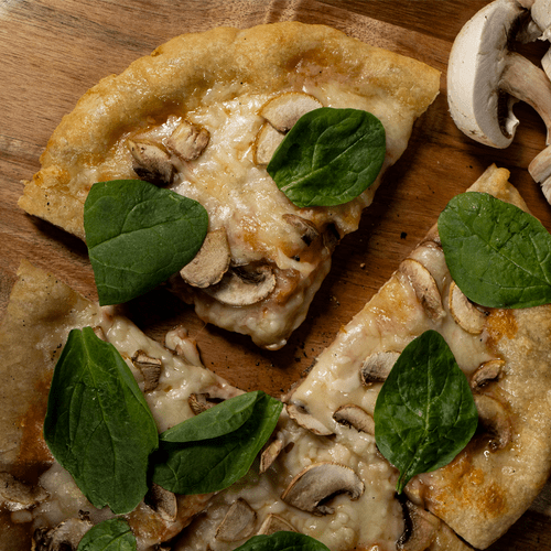 Mushroom, Garlic & Spinach Pizza| Carry-Out