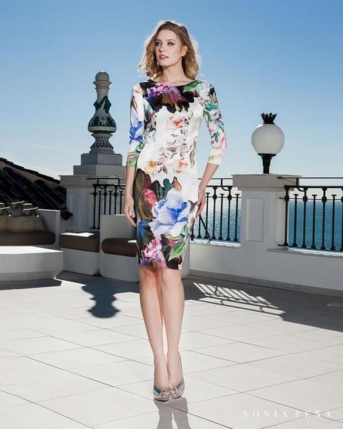 Vestido flores Sonia Peña