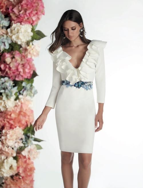 Vestido blanco Matilde Cano. T/42.