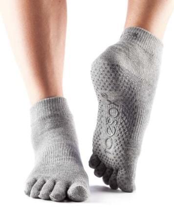 Toesox full toe grip ankle/五趾防滑袜