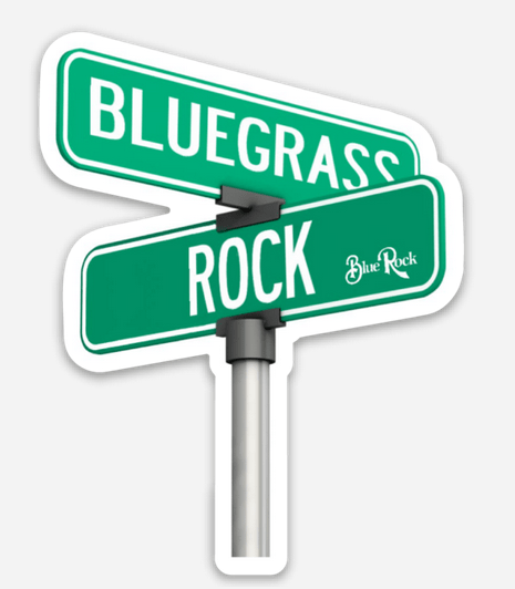 Intersection of Bluegrass and Rock Sticker