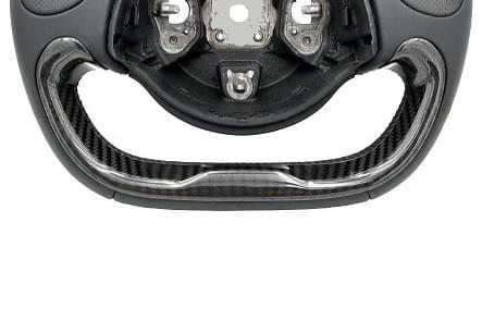 アルファロメオ 4C/4C SPIDER ステアリングホイール カーボン ロア カバー