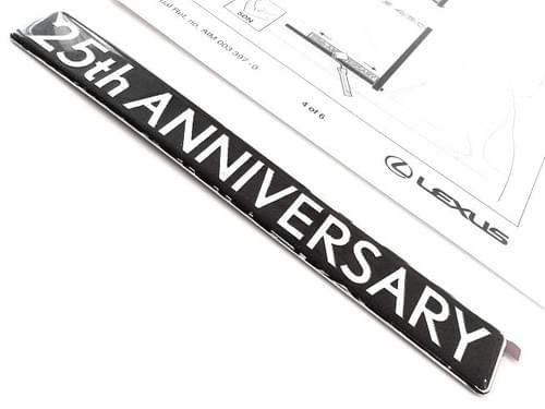 Lexus 25th ANNIVERSARY Edition Badge