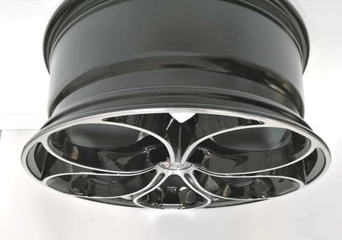 アルファロメオ ステルヴィオ 20インチ DRAKE アルミホイールセット(ダイアモンドブラック)