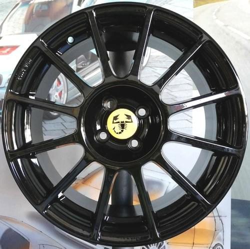 アバルト 500/595 12-SPOKE 17インチホイール セット(グロスブラック)